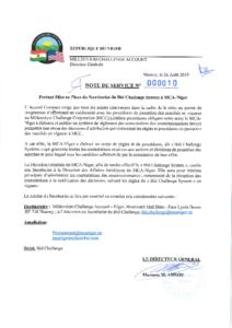 NOTE DE SERVICE Secrétariat BCS