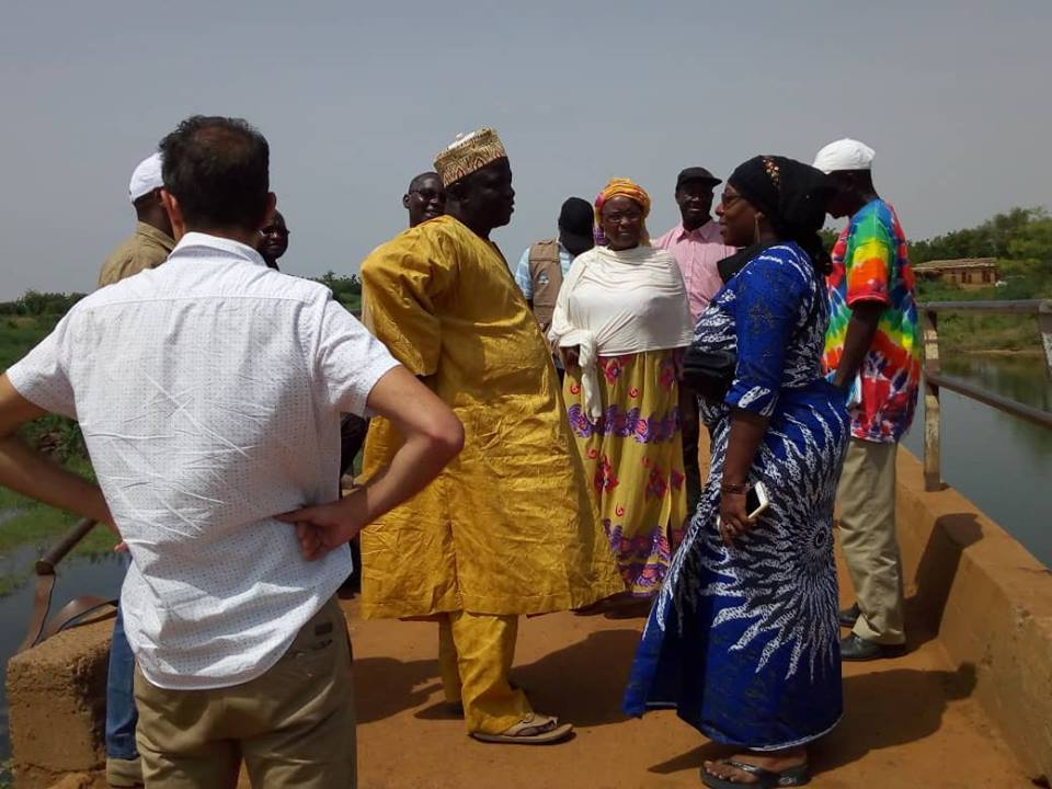 Visite du barrage de Zongo