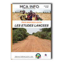 Newsletter MCA-Niger, N° 001 - Juin 2018