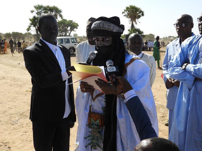 Le Ministre Boucha Mohamed au micro.