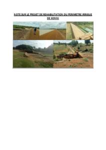Note sur le projet de réhabilitation du périmètre irrigué de Birni Konni