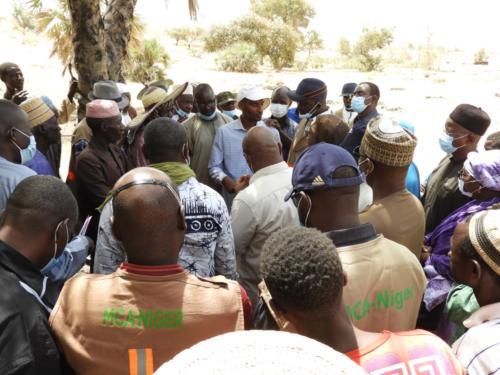 Echange avec les producteurs du site maraîcher de Karguibangou (Dosso)