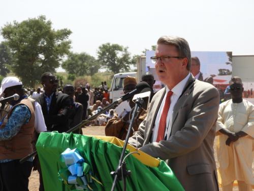 L'Ambassadeur de USA au Niger, Eric Whitaker pendant son allocution