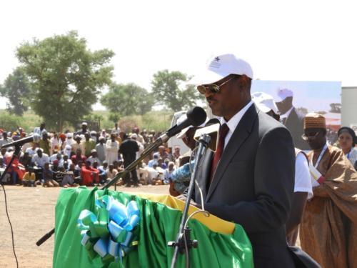 Le DG de MCA-Niger, Mamane Annou pendant son allocution