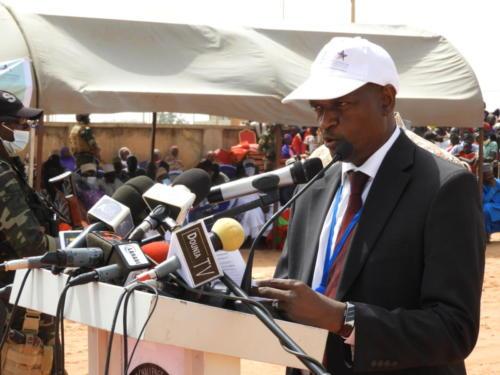 Le Directeur Général de MCA-Niger, Mamane Annou, pendant son discours.